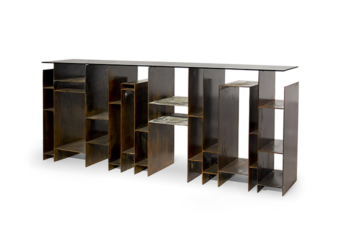 """""""KYAN Console""""  Design News: New pieces in the ICFF 2014 KYAN Console"""