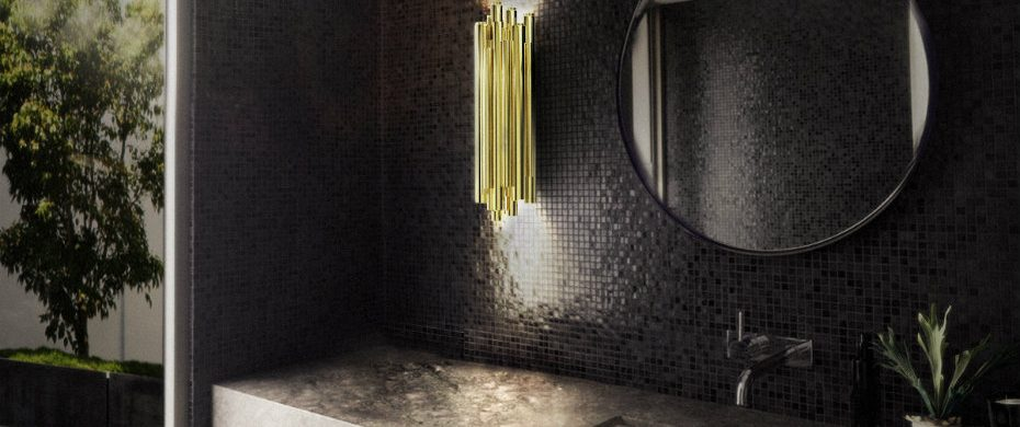 BATHROOM DESIGN 5 TIPS TO CHANGE  TO YOUR BATHROOM DESIGN delightfull brubeck restaurant wall lamp with brass tubes 930x390