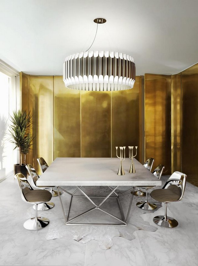 Contemporary Ceiling Lights For A Dining Living Room Miami Design District