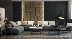 Modern Living Rooms Modern Living Rooms Elegant and Clean Lines black living room ideas for your home decor4 238x130