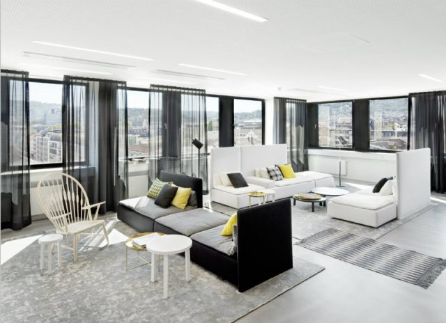 Modern Black And White Living Rooms By Luxe Interiors Design Miami Design District