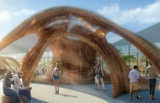 design miami 2016 The Largest 3D Printed Structure Entrance celebrates Design Miami 2016 design miami shop architects entrance installation designboom 1800 1 324x208