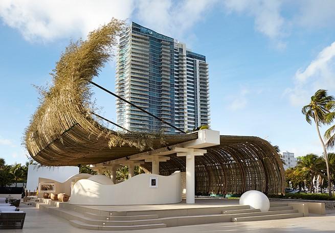 Art Basel Miami: Reconstruction of the Universe by Sun Xun Art Basel Miami Art Basel Miami: Reconstruction of the Universe by Sun Xun sun xun bamboo installation audemars piguet miami art week 2016 designboom 02