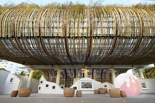 Art Basel Miami: Reconstruction of the Universe by Sun Xun Art Basel Miami Art Basel Miami: Reconstruction of the Universe by Sun Xun sun xun bamboo installation audemars piguet miami art week 2016 designboom 03