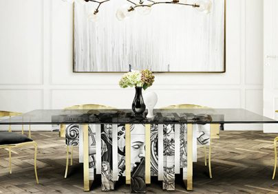 MODERN DINING TABLE 25 MODERN DINING TABLE TRENDS FOR YOUR DINING ROOM Dining Room Boca do Lobo 02 404x282