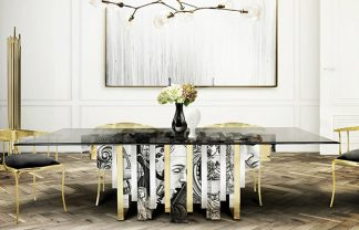 modern dining room 25 Unexpected Modern Dining Room Design Dining Room Boca do Lobo 02 324x208