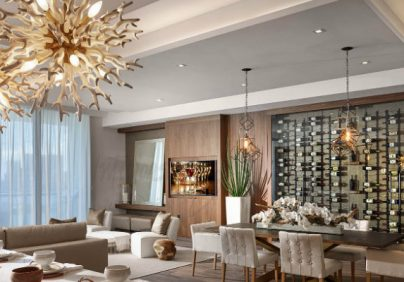 steven g Interiors by Steven G design Contemporary home at Echo Aventure ECHO Pendants Dining A new 1 404x282