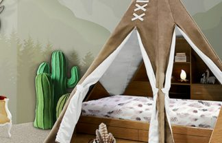 kids bedroom SALONE DEL MOBILE 2017: EXPLORE THE CHILDWOOD KINGDOM WITH CIRCU teepee room ambience circu magical furniture 01 1 324x208